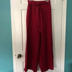Anthropologie Red Pants